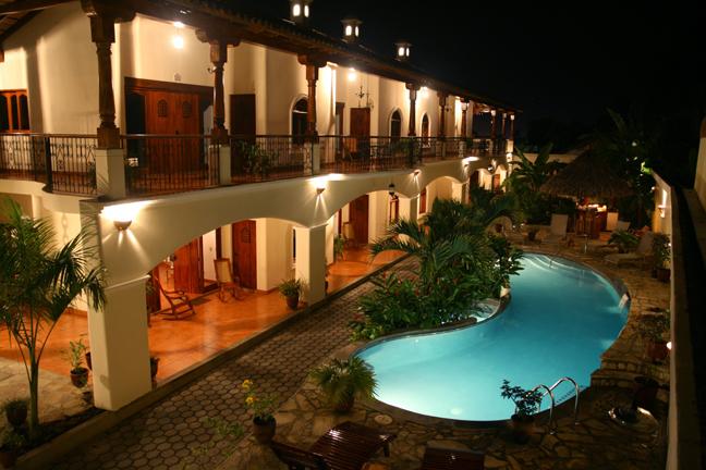 A beautiful view of our Hotel Xalteva in Granada, Nicaragua
